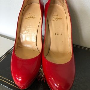 Red Christian Louboutin Patent Bianca (40)